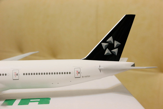 長榮 EVA Air Star Alliance Livery 777-300ER 模型開箱  星空聯盟尾翼