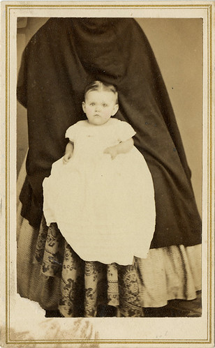 Baby with Hidden Mother's Skirt - CDV
