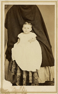 Baby with Hidden Mother's Skirt - CDV