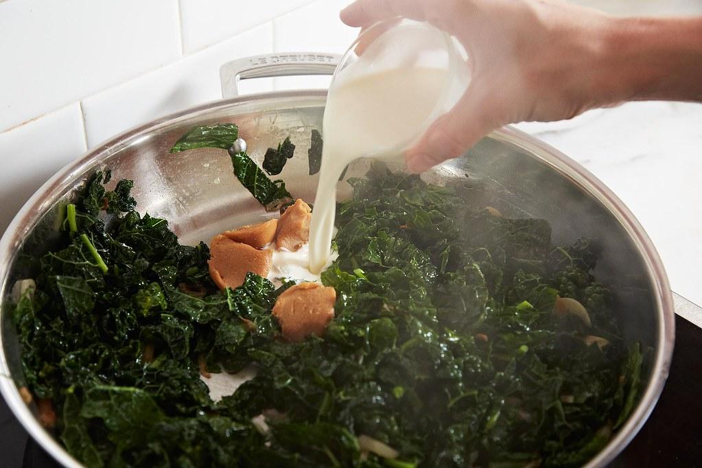 Trent Pierce's Miso Creamed Kale on Food52