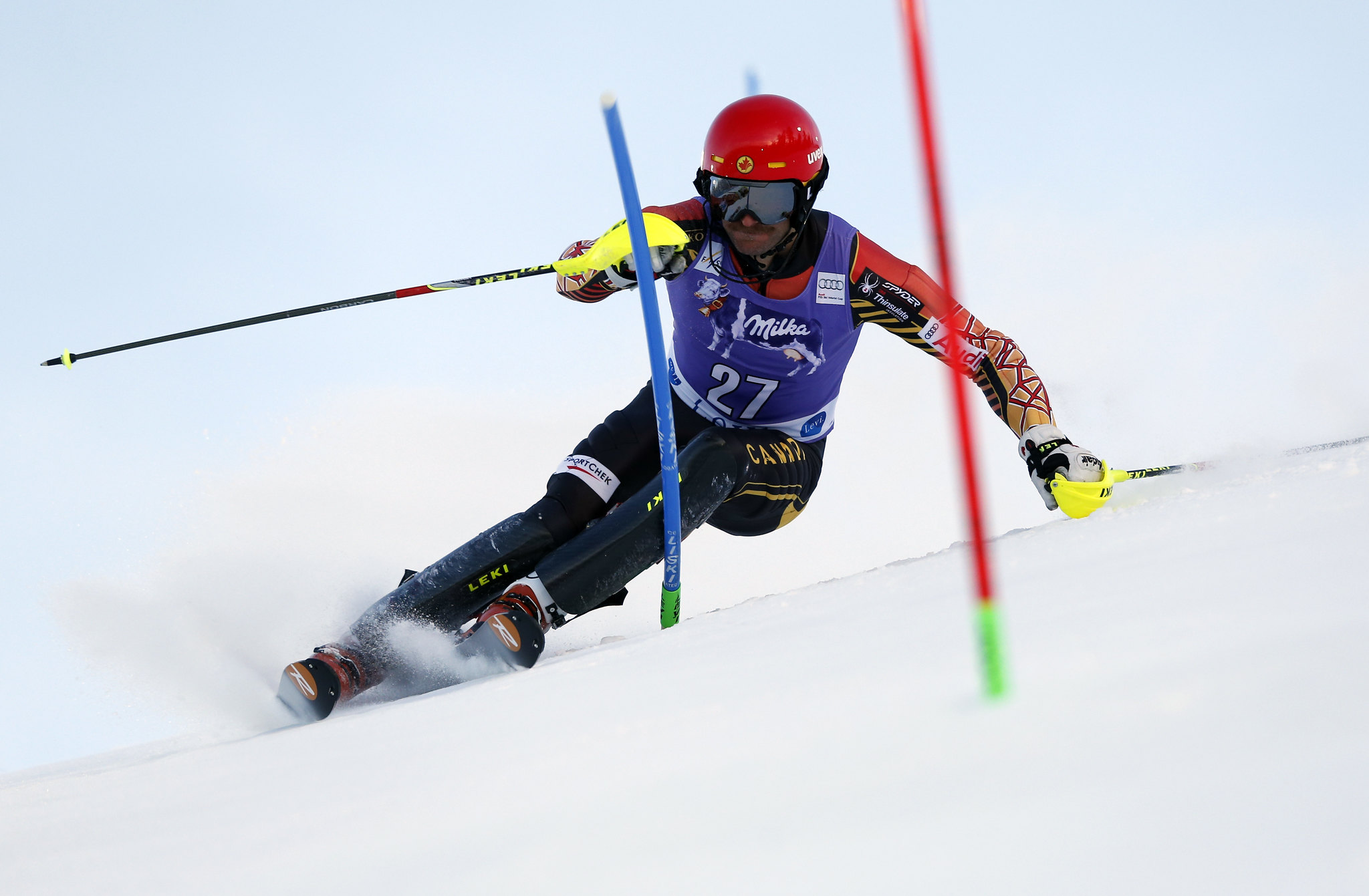 Janyk enroute to a 20th place finish in Levi, Finland.