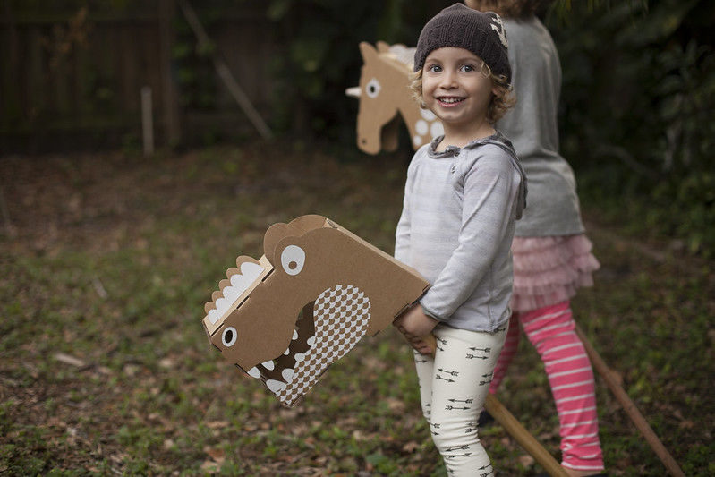 Flatout Frankie Riding Dino and Unicorn