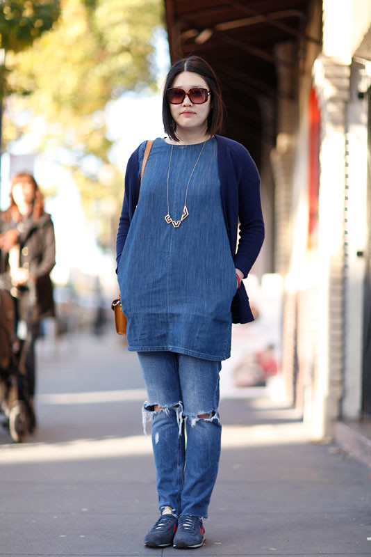 doubledenim_val street style, street fashion, women, Valencia Street, San Francisco, Quick Shots