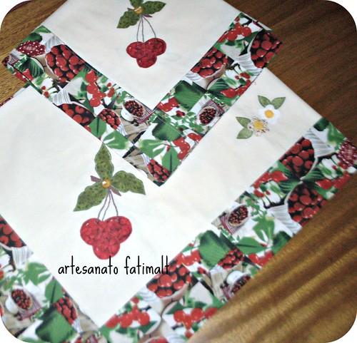 cerejas-toalha de mesa e de fogão by fatimalt