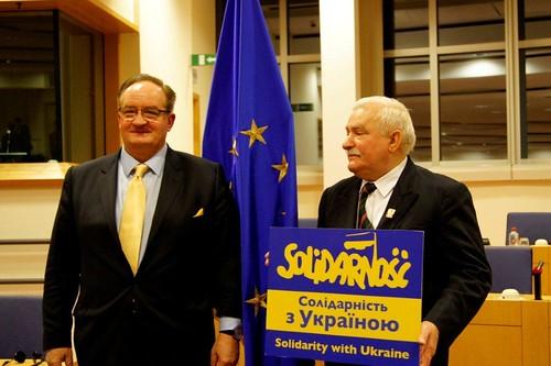 Solidarity with Ukraine - President Lecha Wałęsa & Jacek Saryusz-Wolski MEP