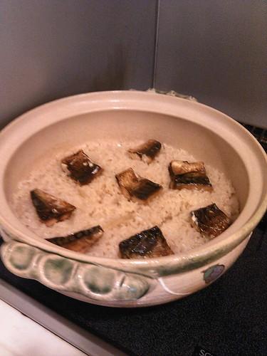 焼き塩サバご飯