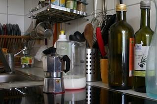 Creating latte macchiato