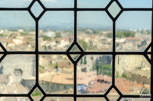 Avignon through old stained glass