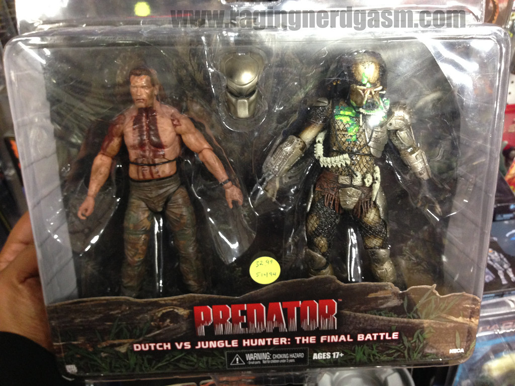 NECA Predator Dutch vs Jungle Hunter The Final Battle