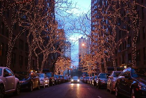 Holiday Lights at 73rd Street between 2nd and 3rd Avenues
