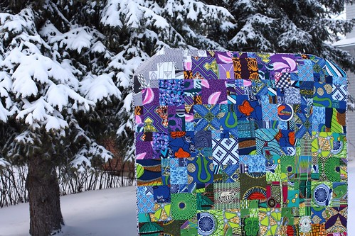Kelsey's Magic Numbers African Wax Print Quilt