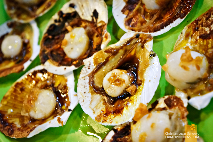 Scallops at RML Manokan Haus Kamayan in Roxas City