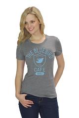 Womens Gray Bluebird Cafe T-Shirt