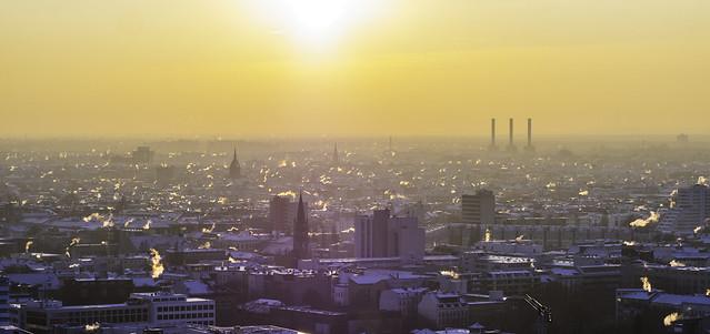 West Berlin in Mist