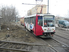 Moscow tram LT-5 delivery from factory_20030411_107