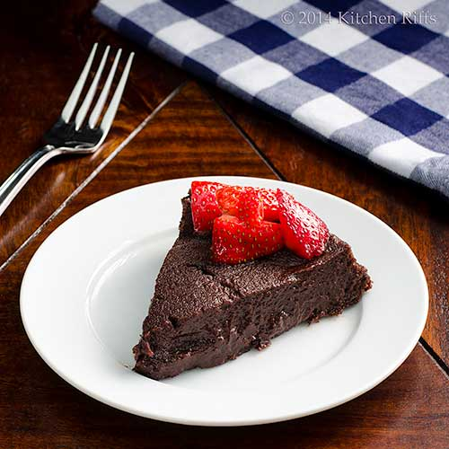 Boca Negra Cake with strawberry garnish