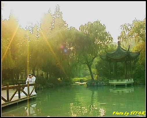 杭州 西湖 (其他景點) - 517 (西湖十景之 柳浪聞鶯 在這裡準備觀看 西湖十景的雷峰夕照 (雷峰塔日落景致)