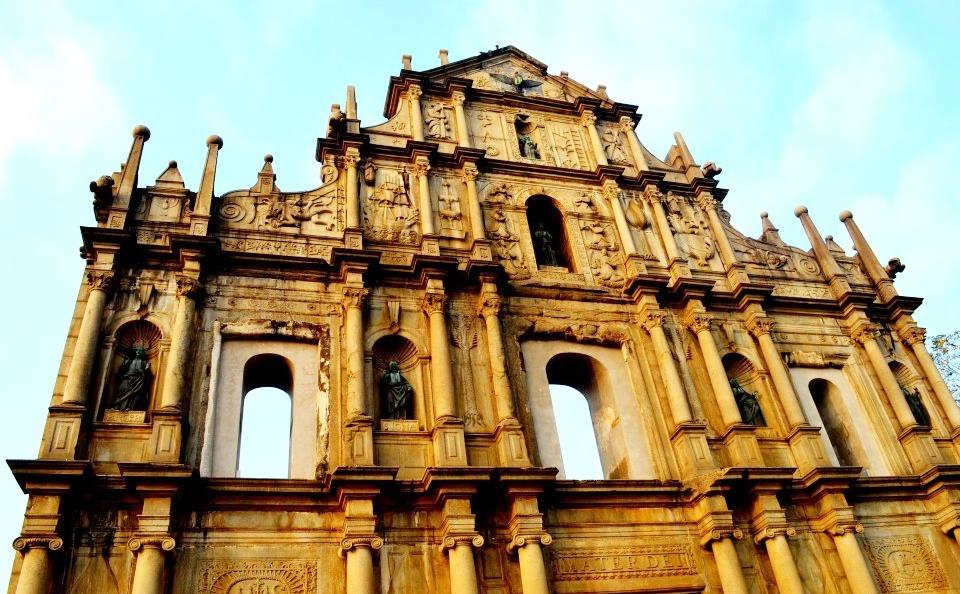 Restos de la iglesia jesuita de San Paulo. Macao, China. Autor, Viajando ando