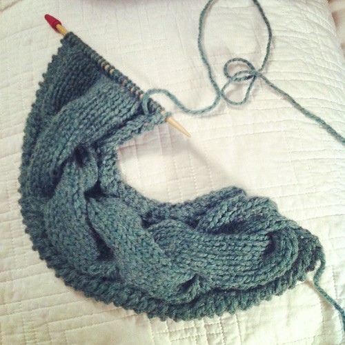 cables, cables, cables #knitting #onthesticks
