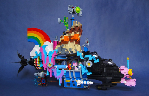 """We Can Make a Bat-submarine… (Patent Pending)"": LEGO Movie Submarine Side View"