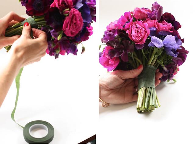 tape bouquet