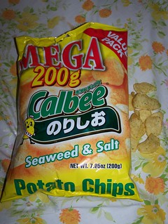 Calbee seaweed & salt potato chips