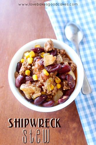 Shipwreck Stew - an economical and easy dish full of ground beef, veggies and beans! So simple, but so good!!