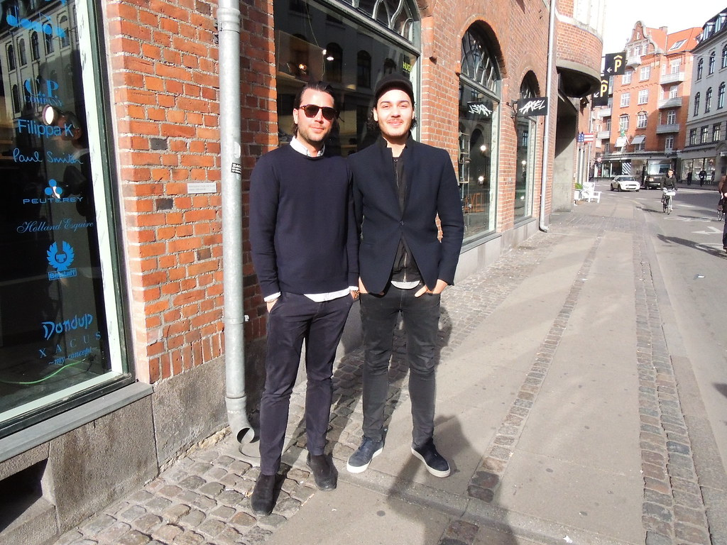 Cool Copenhagen guys in the spring sun - 2 of 2