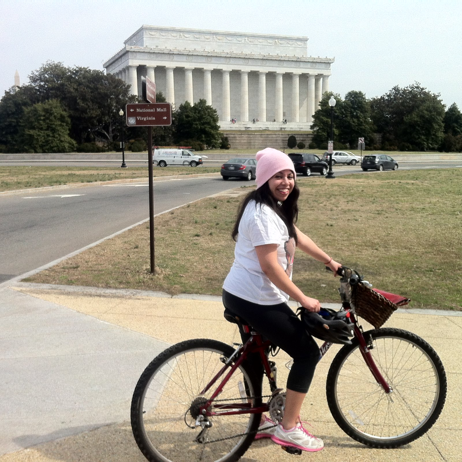 Bike riding on the National Mall (Lincoln Memorial in the back)