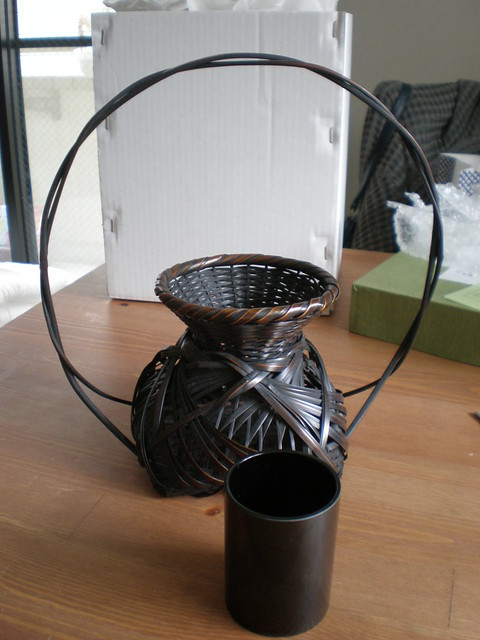 Traditional Woven Bamboo Flower Vase