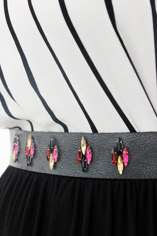 DIY Rhinestone Belt