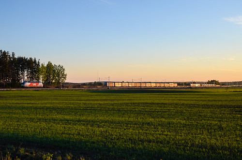 summer train finland freight vr sr2 t5010 seinäjokikokkola