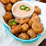 Beer-Battered Jalapenos with Chipotle Ranch Dipping Sauce