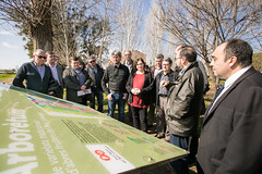 ds., 25/02/2017 - 12:41 - El Prat de Llobregat. 25.02.2017.  La presidenta de l'AMB i alcaldessa de Barcelona, Ada Colau, ha mantingut una reunió de feina, amb diversos alcaldes, regidors i representants dels ajuntaments, institucions i organismes que formen part del Consorci del Parc Agrari del Baix Llobregat, extensió productiva agrícola més important de l'àrea metropolitana de Barcelona. Foto Robert Ramos / AMB