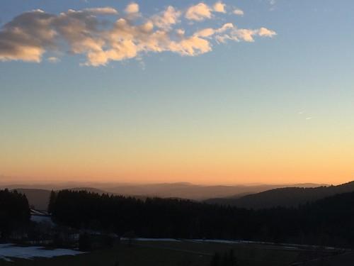 Hohenau sunset