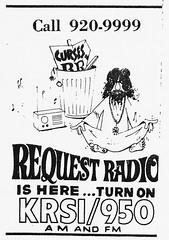 Request Radio KRSI/950 ad, 1968