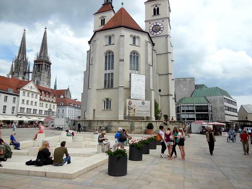 Square in Regensburg