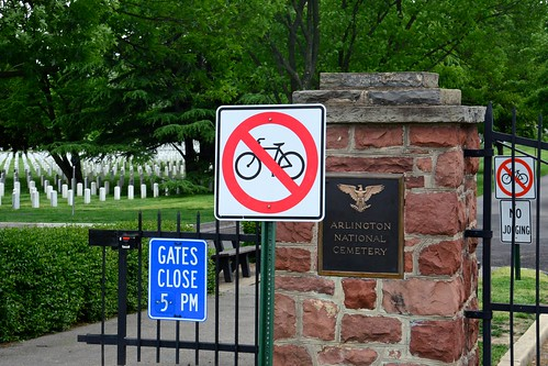 No Bikes in Cemetery