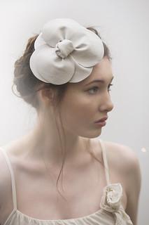 leather flower bridal headpiece