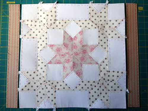 Snow Crystals Mini-Quilt WIP
