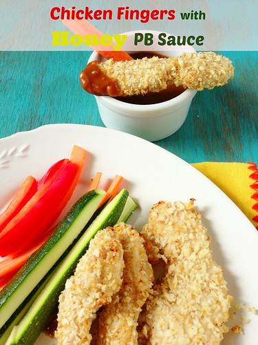 Chicken Fingers with Honey PB Sauce