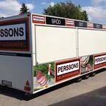 Släpdekor åt Perssons Delikatesshandel