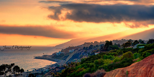 Sunset over Malibu