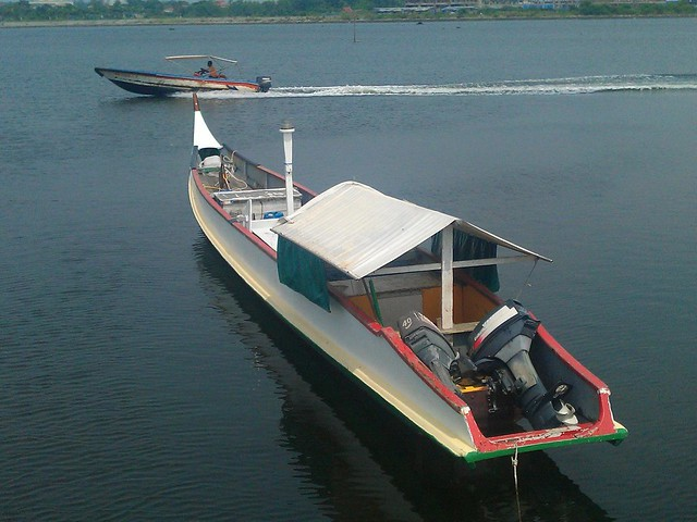Stunning timber and plywood powerboat from Labuan Island Malaysia - long lean fast economical