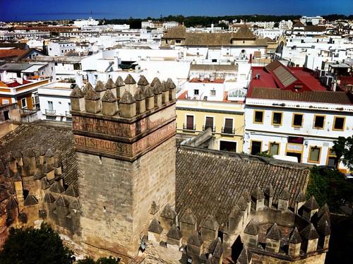 Vistas de El Puerto de Santa María desde la torre del homenaje del castillo de San Marcos
