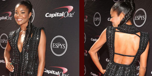 Gabrielle Union was wearing Marc Bouwer dress at the 2013 Espy Awards