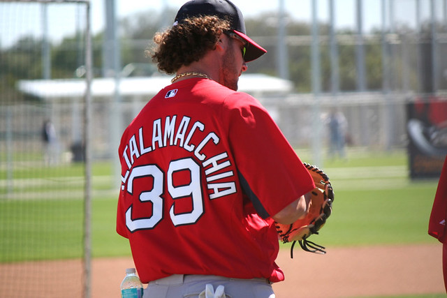 Jared Saltalamacchia @ Red Sox Spring Training Camp