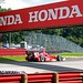 Scott Dixon goes under the Honda Bridge in Turn 7 at Mid-Ohio
