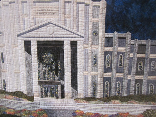 """Houston Texas Temple"" by Carolyn Allison, close up 1"