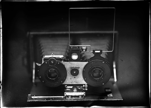 ФотоаппаратЪ (vintage stereo camera,Ideal,Huttig A.G. Dresden 1908)